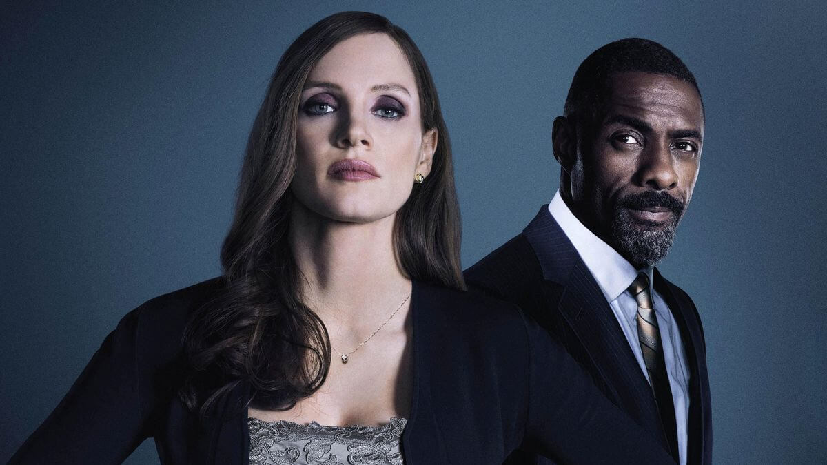 Molly's Game med Jessica Chastain og Idris Elba